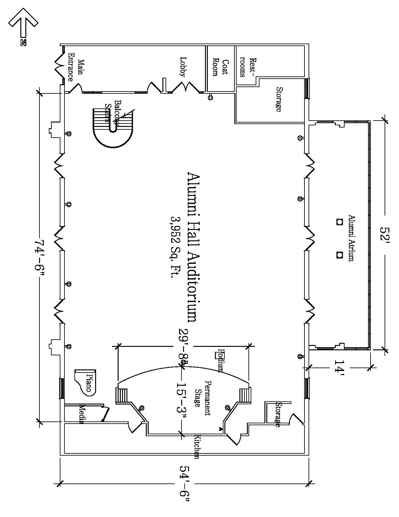 Alumni Hall Auditorium Floor Plan