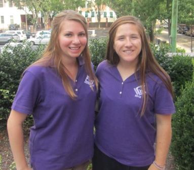 Brittany Daniels '12 and Lacie Michaelson '12 with Augustinian Volunteer Corps