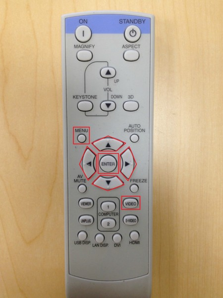Projector Remote for Closed Captioning