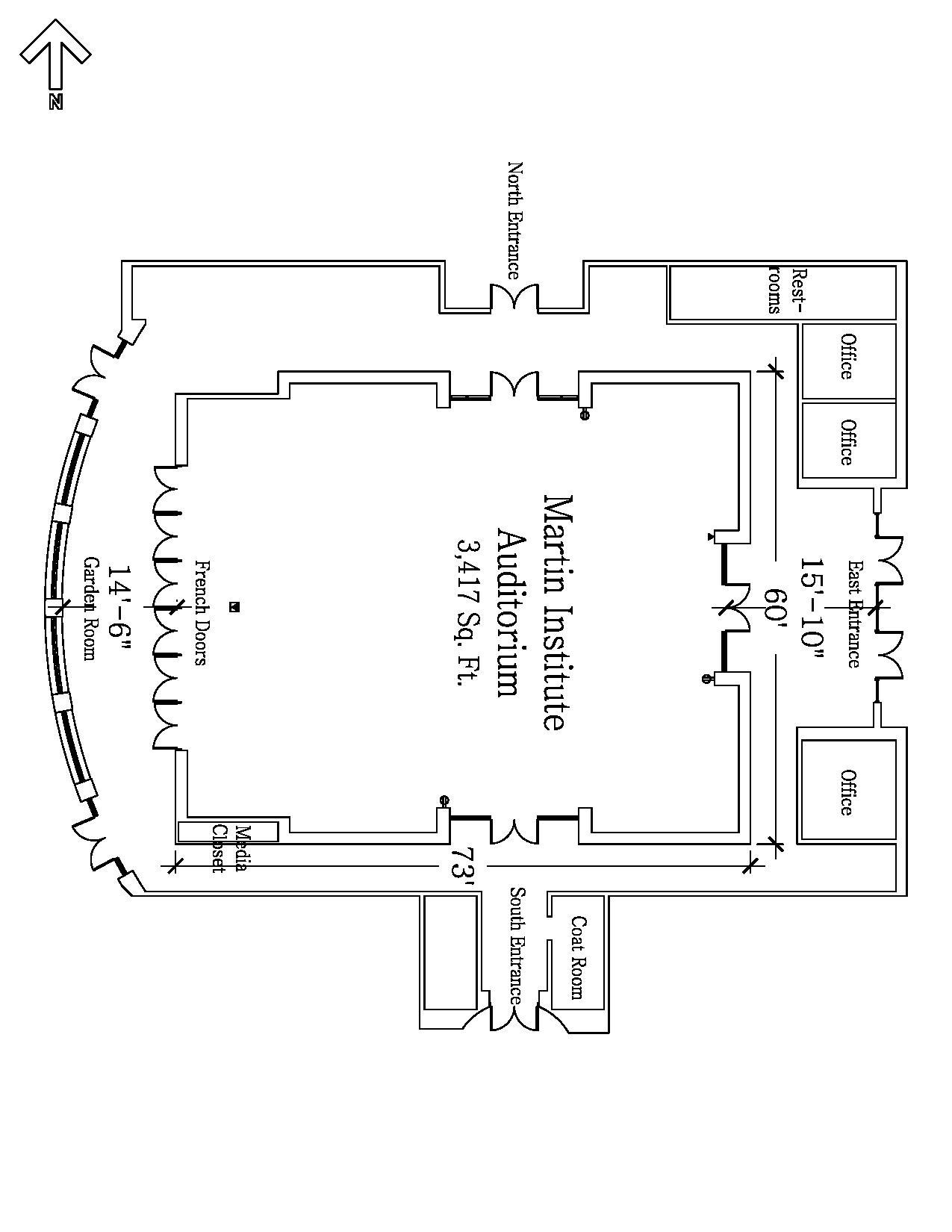 Martin Auditorium Floor Plan