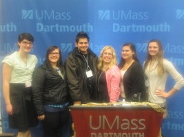 A contingent of peer tutors from Stonehill's Center for Writing & Academic Achievement attended The New England Peer Tutor Association's 20th annual Peer Tutor Forum at UMass-Dartmouth on April 5