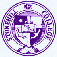 The original seal of Stonehill College, designed by Brother Barnabus O'Toole, C.S.C. in 1951.
