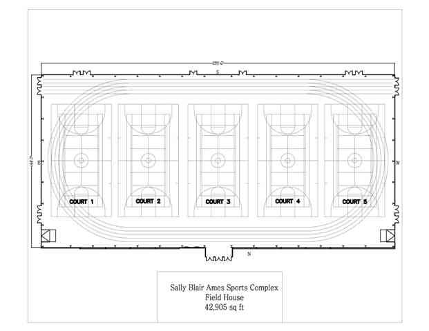 Sports Complex Floor Plan