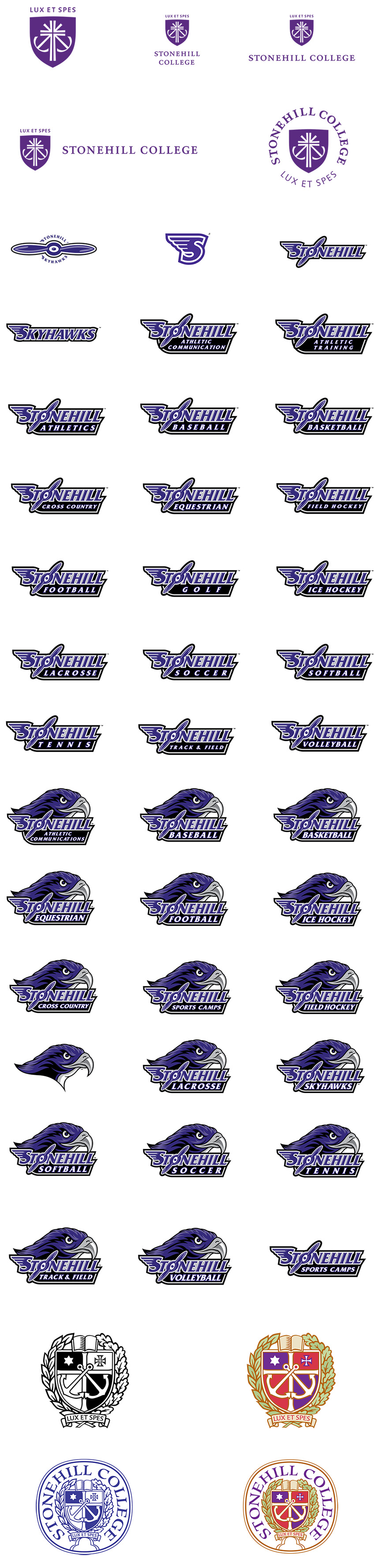 Trademarked Logos of Stonehill College
