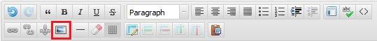 WYSIWYG Toolbar Images