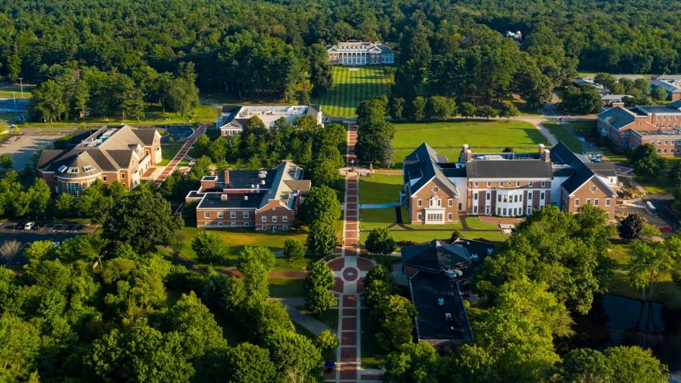 Aerial photo of campus