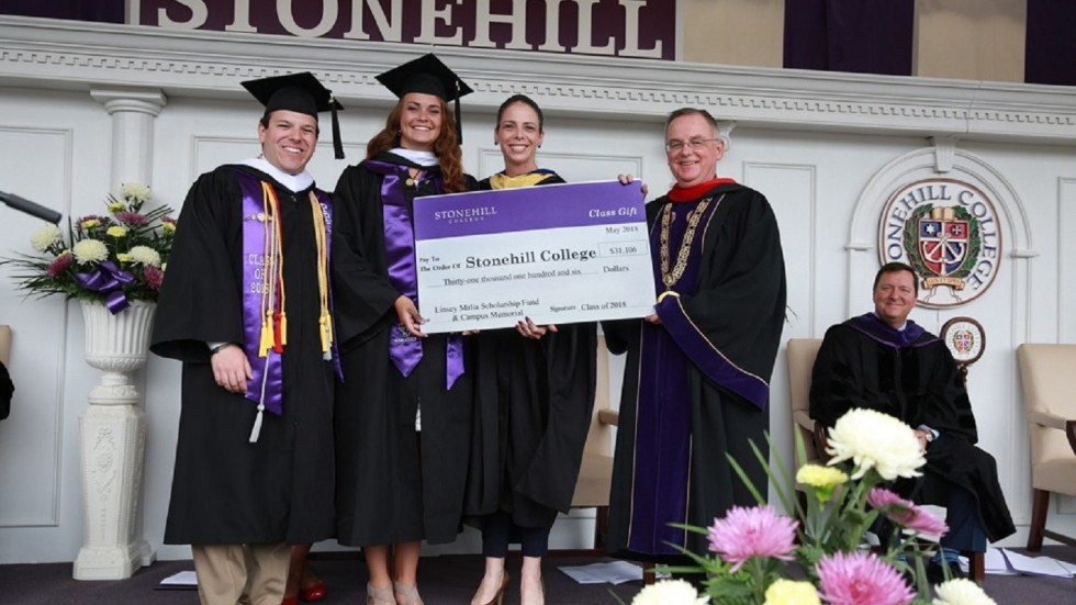 Senior Class Gift Check Presentation at Commencement