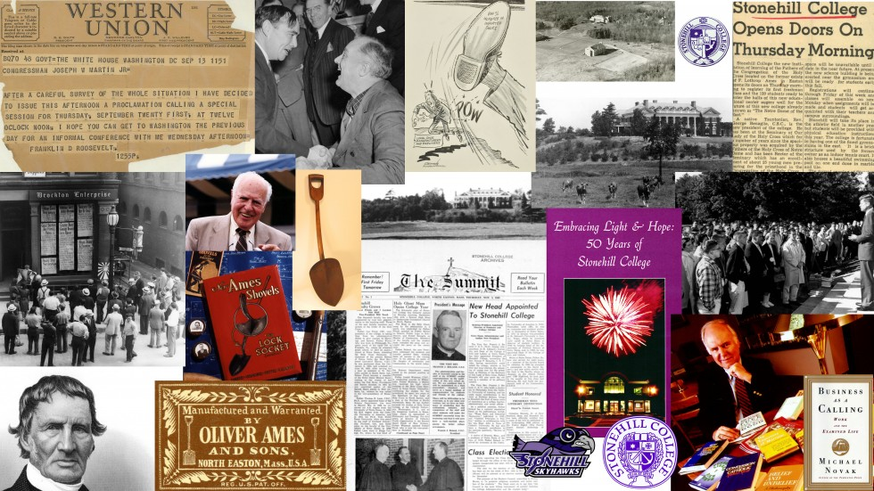 Collage of photos from the Stonehill Archives