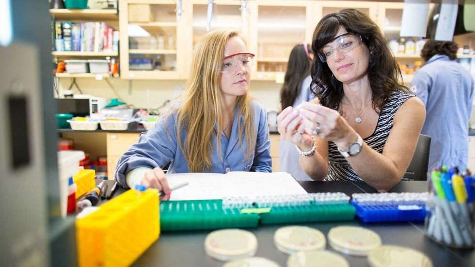 Marilena Hall with Student