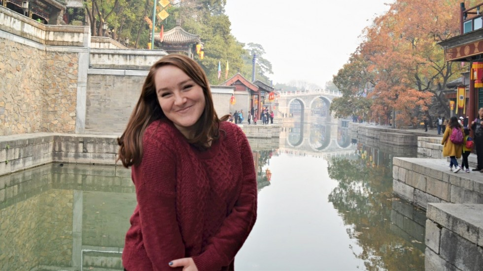 Stonehill student studying abroad in China