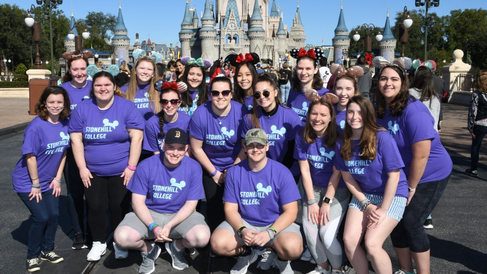 Photo of students participating in Disney Leadership Experience