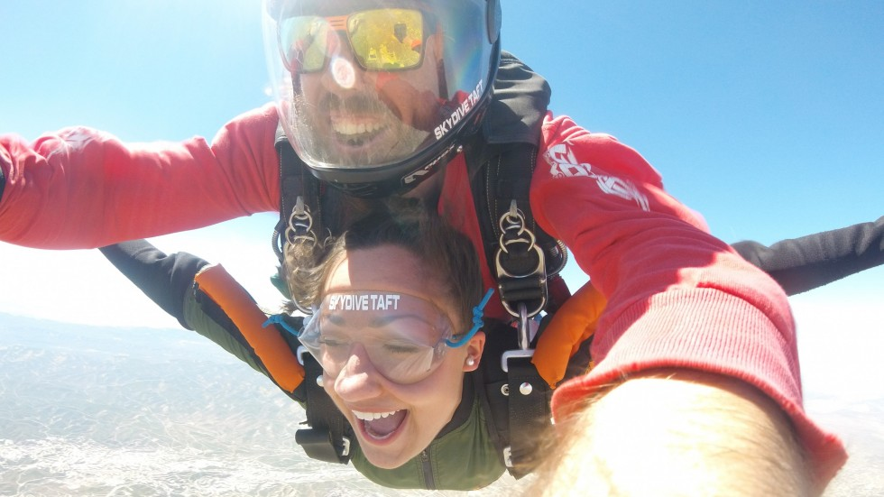 Fun Fund photo of students skydiving