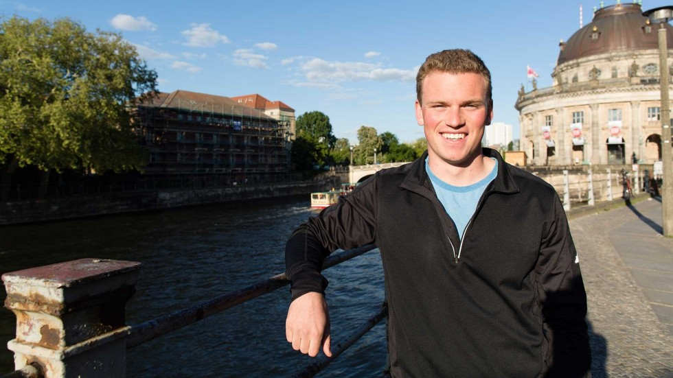 Joshua Bankert studying abroad in Germany