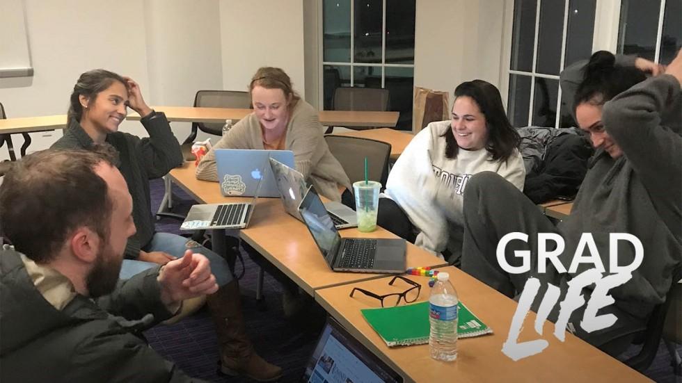 Graduate students in class pre-covid