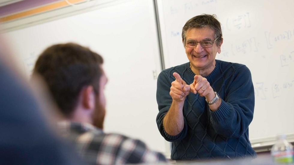 Ralph Bravaco, department chair Computer Science, teaching class