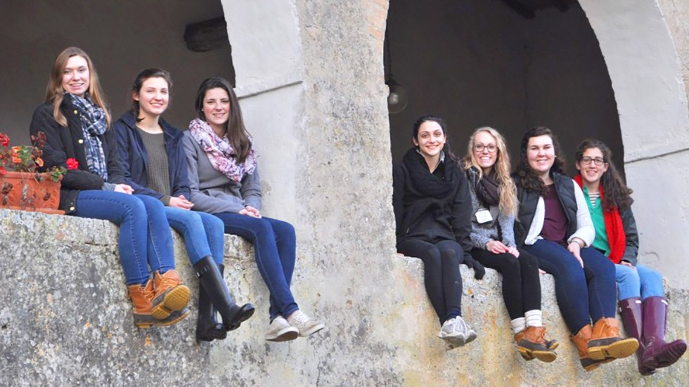 Students in Sienna, Italy