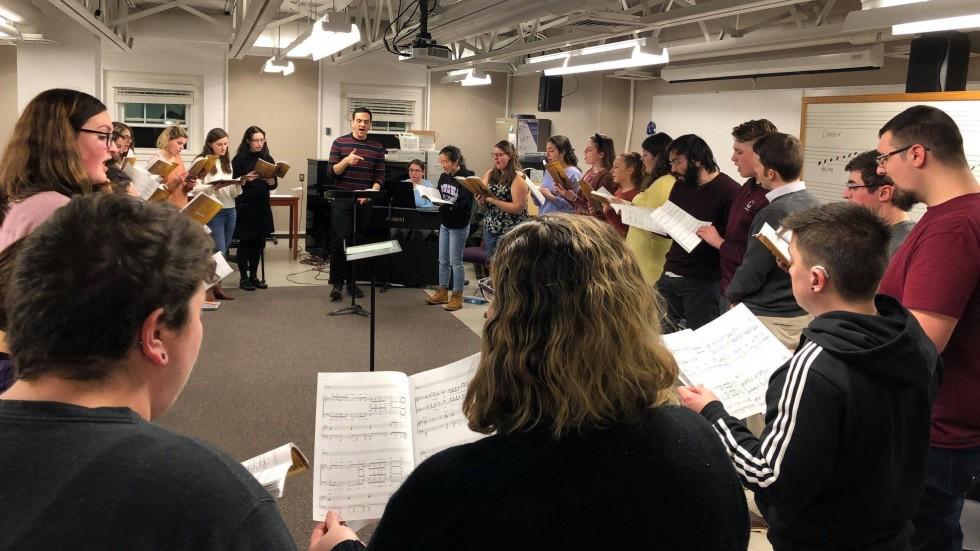 Collegiate Chorale practicing