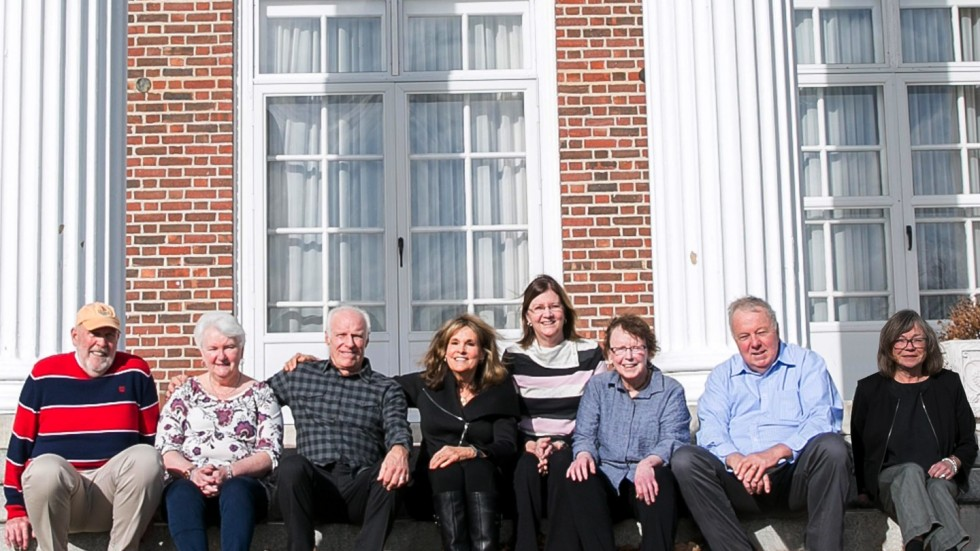 Stonehill Alumni Magazine, Winter | Spring 2020, Volunteer Spotlight, MEETING BREAK The Class of 1970 Reunion Committee at their January meeting. [L to R] Charles Buckley, Mary Ann (Lyons) Moore, Peter LaBouliere, Marilyn Baer, Kathleen (Anderson) Bertrand, Brenda Hughes, William McAndrew, Georgette Ader Sullivan. Committee members not photographed: Eileen Cleary, Philip Contant, George Coombs III, Anne Desnoyers Hurley, Francis X. Dillon, Michael Dumoulin, Sandra Hareld, John Kerrigan, Janet (Sweeney) Michel, Jeanne (Lanigan) Noyes, Diane (Buckley) Robinson, Anne (McCormick) Rossetti, Margaret (Munn) Thayer.