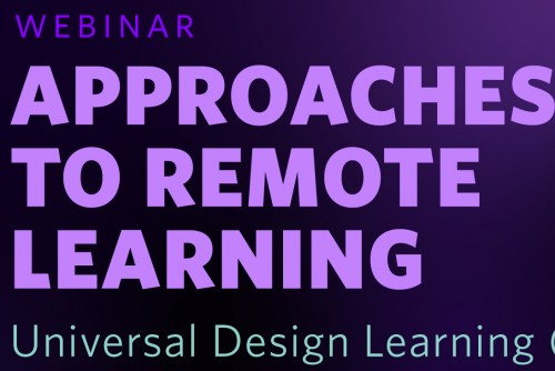 Universal Design Learning (UDL) Approaches to Remote Learning