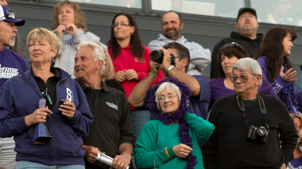 Photo of crowd at Football Game from Family Weekend