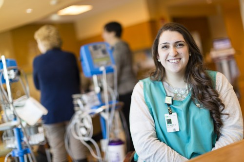 Julianne Earle '16 recently completed an internship at Charlton Memorial Hospital in Fall River, Massachusetts
