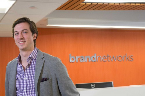 Justin Shepard '08, chief financial officer at Brand Networks
