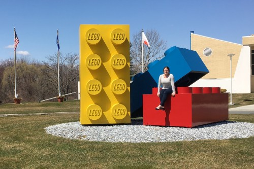 Photo of Kathryn Stein '10, inventory and theme analyst at LEGO