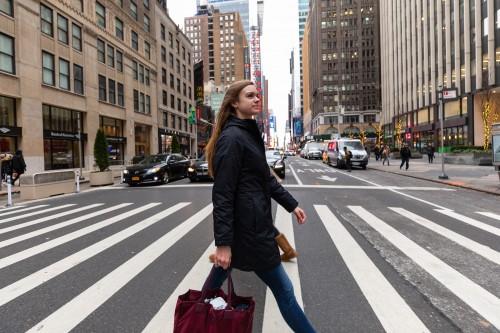 Rebecca Bracket at internship in New York City