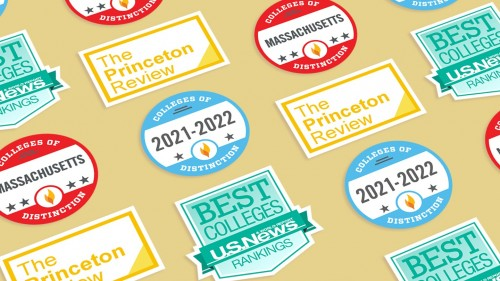 Accolades from U.S. News and World Report, Colleges of Distinction and Princeton Review