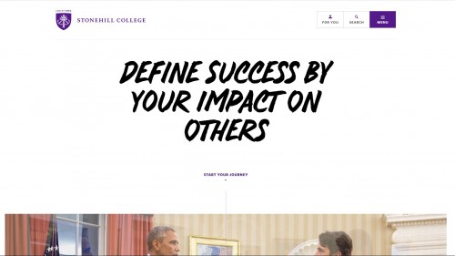 Stonehill College Homepage - Define Success by Your Impact On Others