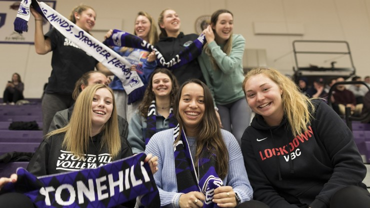 Crowd at Stonehill athletic event