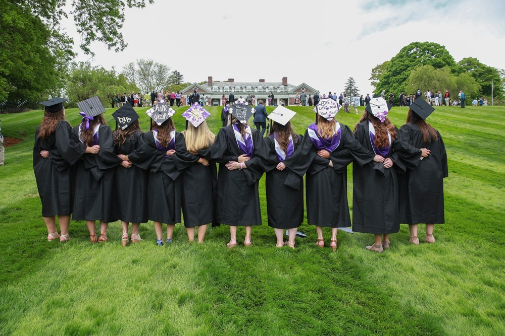 Graduates on Donahue Hill