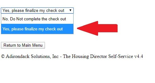 """Select """"Yes, please finalize my check out"""""""